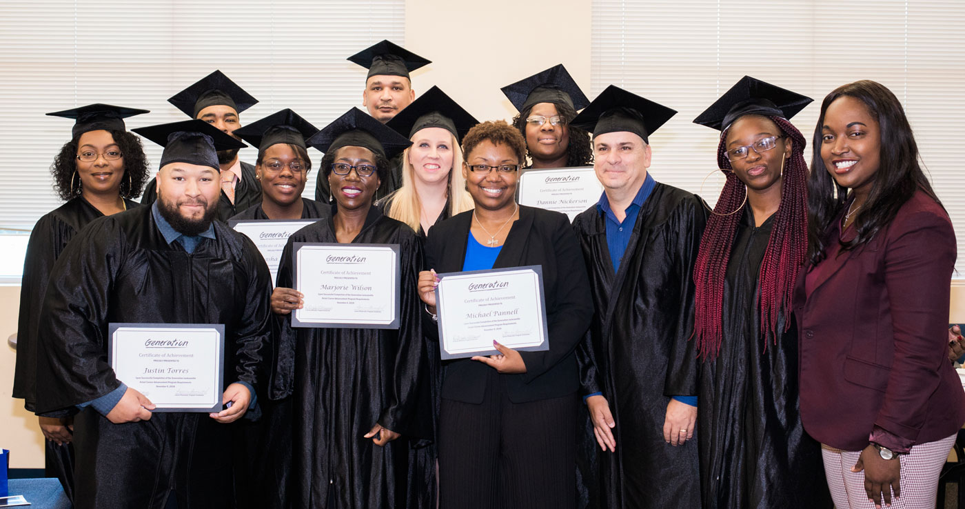 Recent graduates of Generation Jacksonville's Customer Service Supervisor training program